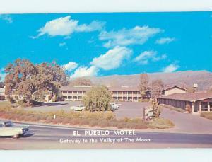 Unused Pre-1980 OLD CARS & EL PUEBLO MOTEL Sonoma California CA n9929@