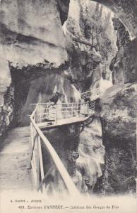 France Environs d'Annecy Interieur des Gorges du Fier
