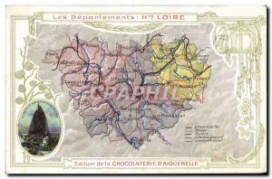 Postcard Old MAPS Chocolaterie d & # 39Aiguebelle Haute Chapelle Saint Michel...