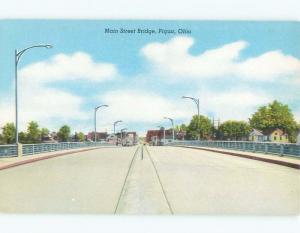 Unused Pre-1980 MAIN STREET BRIDGE Piqua Ohio OH d4356