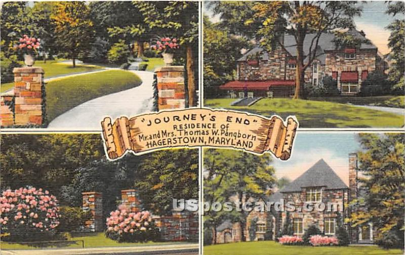 Journey's End, Residence of Mr & Mrs Thomas W Pangborn Hagerstown MD 1952 Mis...