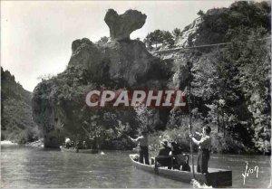 Postcard Modern Tarn Gorges Surroundings Malene (Lozere) Mushroom Rocks