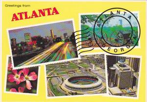Georgia Atlanta Greetings From Multi View