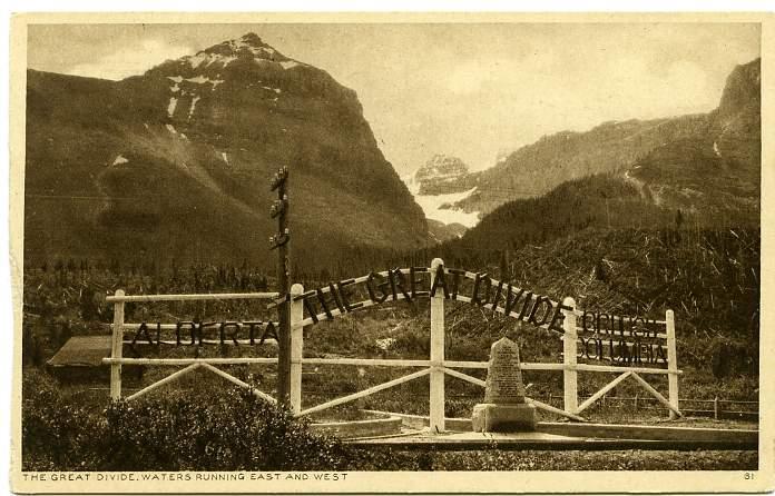 Great Divide Alberta BC British Columbia Canada Along Canadian Pacific Railway