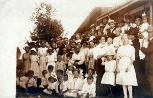 Beautiful Family Reunion Kids Generational Vintage Real Photo RRPC Post Card