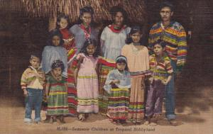 Florida Miami Seminole Indian Children At Tropical Hobbyland Curteich