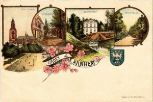 CPA Groet uit ARNHEM Litho NETHERLANDS (604644)
