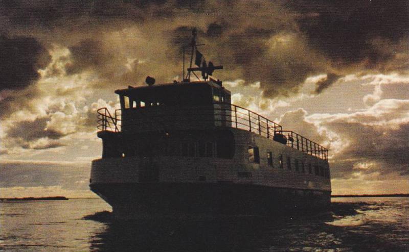 M.S. Norweta,  Sailling the McKenzie River,  Northwest Territories,  Canada, ...