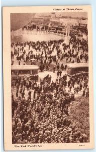 *Visitors Theme Center Greyhound Bus World's Fair New York NY Postcard B68