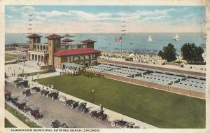CHICAGO , Illinois, PU-1917 ; Clarendon Municipal Bathing Beach, Sailboats