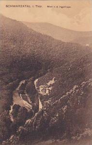 Blick v. d. Ingoklippe, Schwarzatal i. Thur. (Thuringia), Germany, 1900-1910s