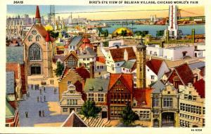 IL - Chicago. Chicago World's Fair, 1934.  Belgian Village