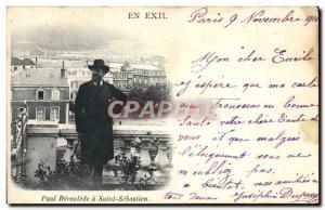 Old Postcard In exile in Saint Paul Deroulede Sebasti?n San Sebastian TOP