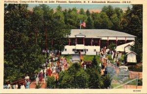 New York Adirondacks Speculator Camp-Of-The-Woods Auditorium On Lake Pleasant...