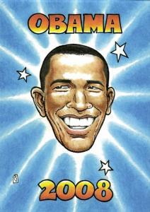 Caricature Democratic Nominee U.S. Presidential Election 2008 Barack Obama