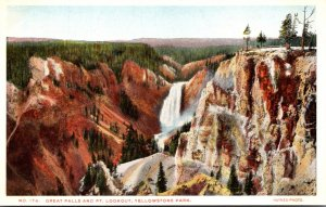 Yellowstone National Park Great Falls and Point Lookout Haynes Photo
