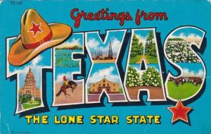 Greetings From Teexas The Lone Star State 1950