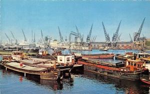 Netherlands Rotterdam Havengezicht View of the Port Bateaux Harbour