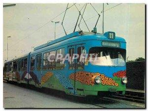 Postcard Modern Kolns Bahnen 1983 bunte Wagen 3125 Dinger's Garten Center