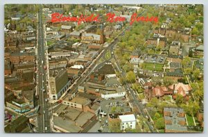 Bloomfield New Jersey~Aerial View Broad Street @ Bloomfield Ave~Business~1966 PC