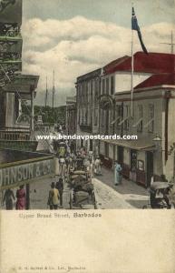 barbados, B.W.I., BRIDGETOWN, Upper Broad Street (1910s)