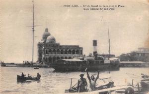 Egypt Port-Said Suez Channel Co. and Pilot, Ship, boats
