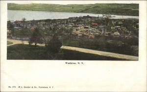 Watkins NY Aerial View c1905 Postcard