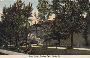 Illinois Peoria Band Stand Bradley Park 1910