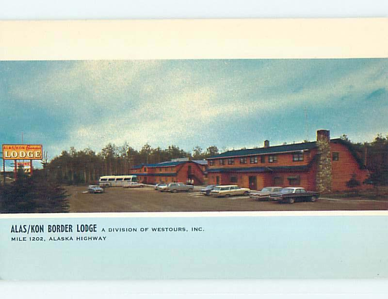 Unused Pre-1980 ALAS-KON BORDER LODGE MOTEL Beaver Creek YT o0358