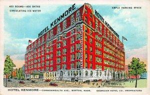 Hotel Kenmore, Boston, Massachusetts, Early Postcard, Unused
