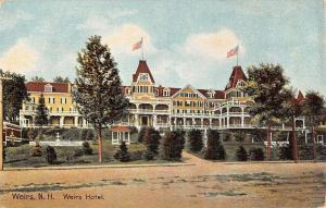 Weirs New Hampshire Hotel Street View Antique Postcard K41658