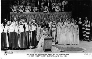 Royalty, Scene in Westminster Abbey, Queen Elizabeth Coronation 1953