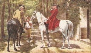 The Roadside Inn. Horses Tuck Oilette Gllery Picures Ser. PC # 9460