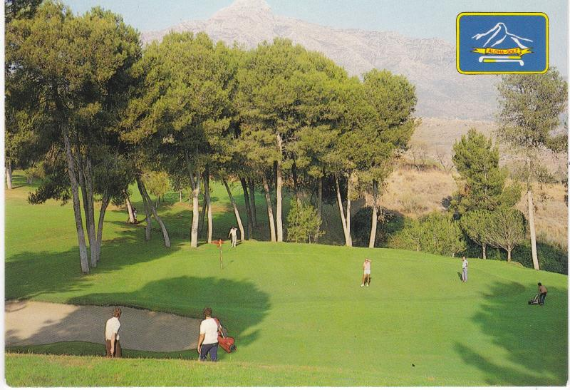 Post Card Spain Costa del Sol Marbella Aloha Golf Club
