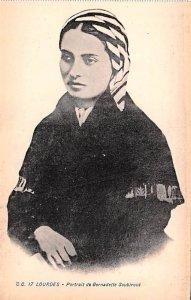 Portrait de Bernadette Soubirous Lourdes France Unused
