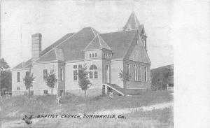 F33/ Summerville Georgia Postcard c1910 Baptist Church
