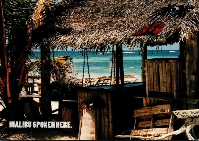 Advertising Malibu Rum Beach Scene Malibu Spoken Here 1997