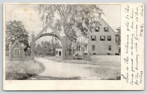 Epping New Hampshire~Hedding Christian Camp Meeting Ground Arch Entrance~1906