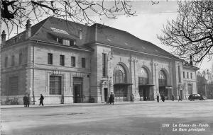 B93127 le chaux de fonds le gare principale car real photo switzerland