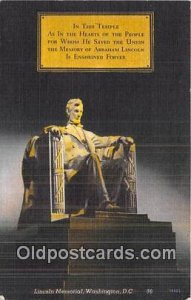 Lincoln Memorial Washington, DC, USA Postal Used Unknown