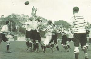 Nostalgia Postcard 1908 Australian Footballers v Devon Reproduction Card NS19