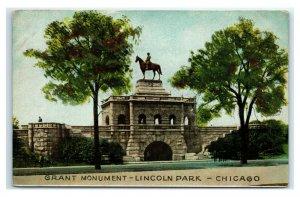Postcard Grant Monument, Lincoln Park, Chicago IL G59