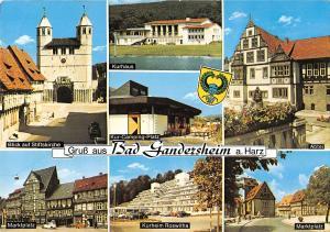 GG12302 Bad Gandersheim am Harz Blick auf Stiftskirche Marktplatz, Kur-Camping