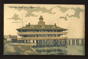 Edgewood, Rhode Island/RI Postcard, Edgewood Yacht Club