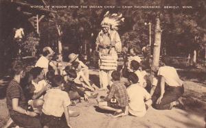 Words Of Wisdom From The Indian Chief Camp Thunderbird Bemidji Minnesota Artvue