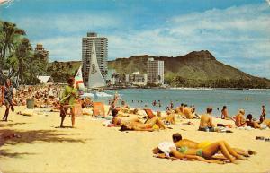 Hawaii Honolulu, Pacific Waikiki Beach, warm, clear waters
