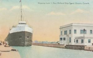 WELLAND SHIP CANAL, Ontario, 1930s; Shipping Lock 3