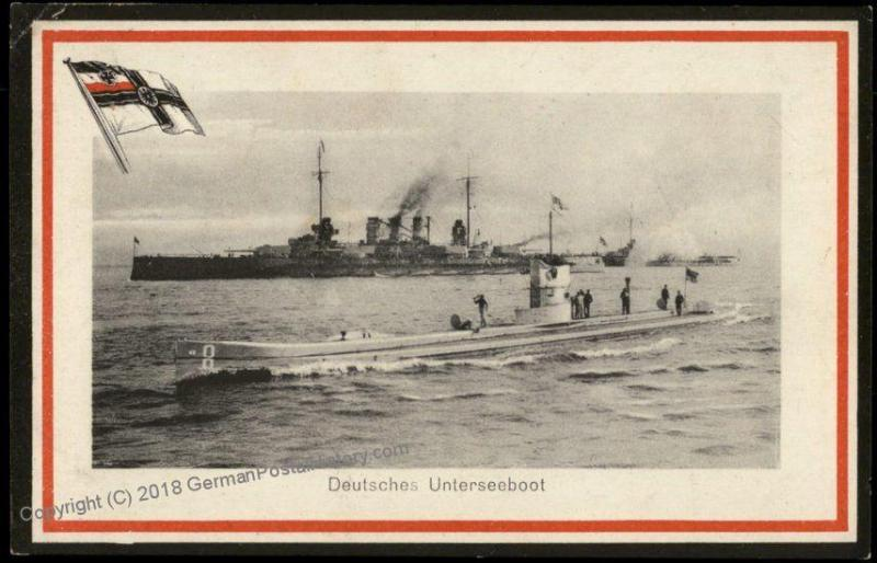 Germany WWI Submarines UBoot MSP24 SMS Oldenburg Used Feldpost Cover 63789