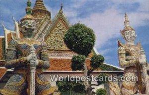 Giant Cuardians, Wat Arun, Temple of Dawa Bangkok Thailand Unused