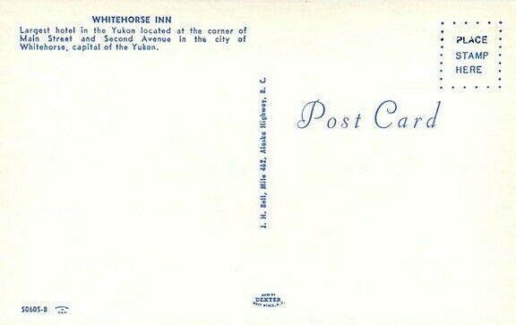 Canada, Whitehorse, Yukon, Whitehorse Inn, 50s Cars, Dexter 50605-B